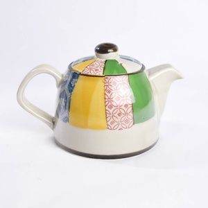 Small Patchwork Pattern Teapot Multicolor Japanese